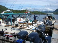 Kyuquot Sound Guide Fleet at the Ship Dock
