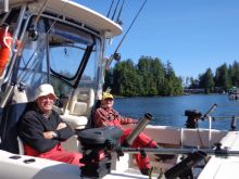 In Kyuquot Sound Getting Ready to head out in the Grady