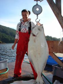 Kyuquot Sound - Another nice Halibut!