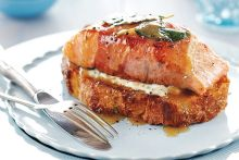 Our favourite salmon recipet - Salmon Saltembocca