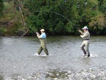 Wading for Salmon - Double Header