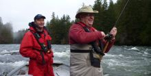 On the Stamp River - Great day of fishing for Steelhead