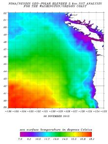Pacific Ocean Sea Surface Temperature Map Example