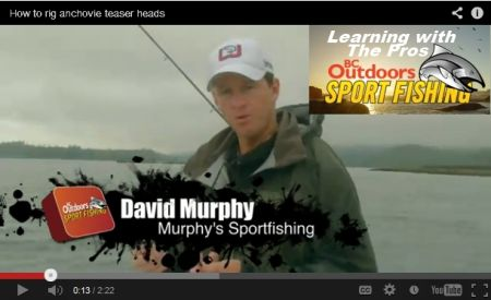 David Murphy How To Rig an Anchovy for Chinook Fishing