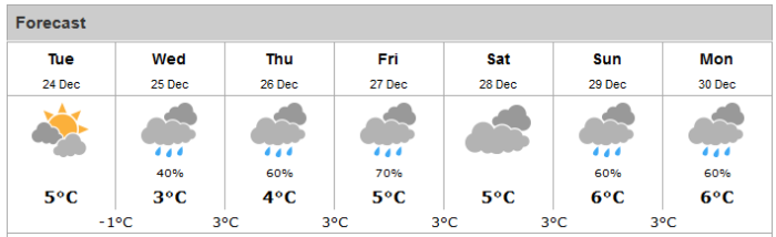 Stamp River 7 day  Weather Forecast