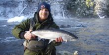 Stamp River Chrome bullet Steelhead on a crisp clear day
