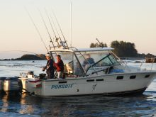 Double Header of Salmon at Spring Island in Kyuquot Sound