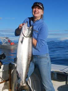 Beauty Ucluelet Chinook - Nice Fish!