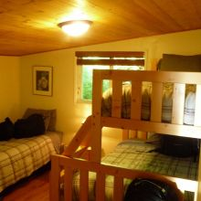 Kyuquot Sound Lodge Rooms set up for groups of two or three