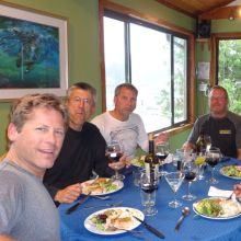 Kyuquot Sound Lodge - dining with Friends.