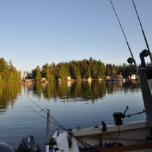 In Kyuquot Sound - Sitting at the dock in the bay
